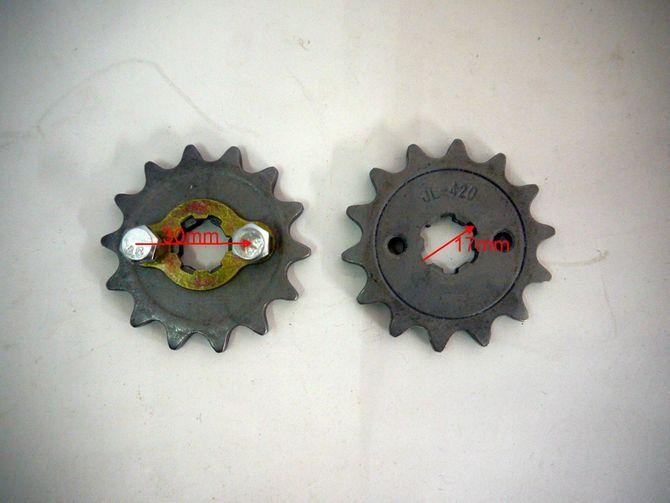 Ritzel 14 Zähne für 420er Kette - passend für viel Skyteam Bikes, Kinderquads und Dirtbikes mit 50 und 125cc 4 Takt- Motoren