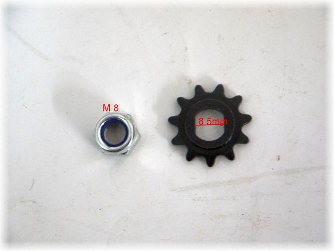 Ritzel 11 Zähne für elektro Motor / elektrisches Kinderquad , Scooter, Dirtbike 800 Watt 36 Volt