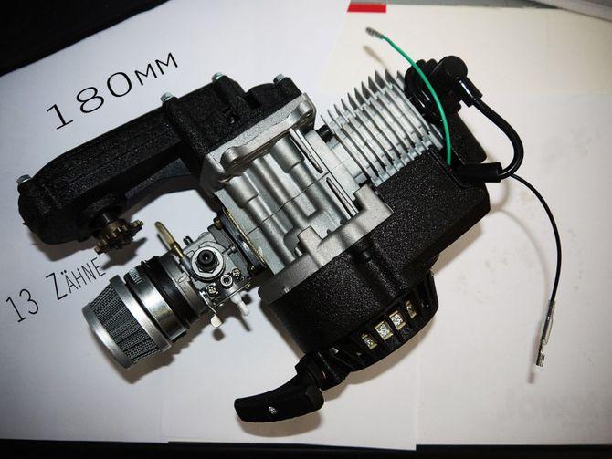 50ccm 2 Takt Motor Pocketbike, Dirt Bike Cross Bike - ohne E-Start