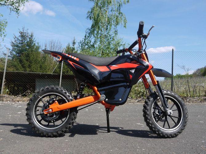 Elektrisches Motorrad mit 3 Stufen Drossel - 500 Watt - 24 Volt - LIA 500W