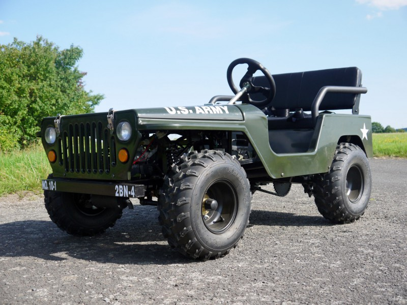 Willy´s Jeep Replika - 110ccm Mini Jeep - Offroad Edition - mit 8 Zoll Bereifung – Bild 7