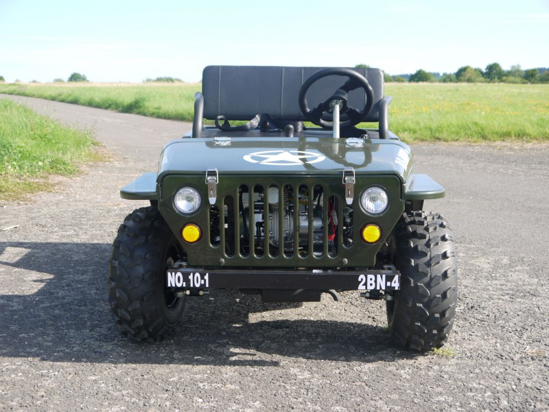 Willy´s Jeep Replika - 110ccm Mini Jeep - Offroad Edition - mit 8 Zoll Bereifung – Bild 8