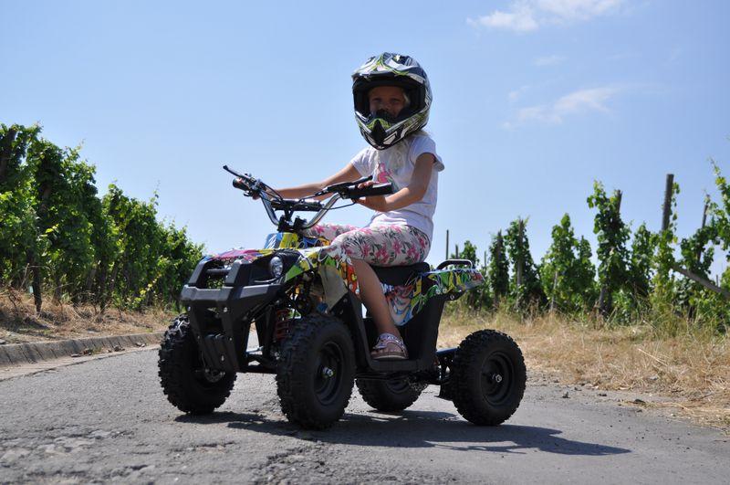 Kinderquad 800 Watt 36 Volt - 3 Stufendrossel - LED - Wechselakku - Rider - Hip-Hop Style – Bild 5