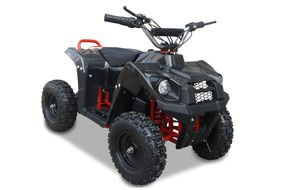 Kinderquad 800 Watt 36 Volt - 3 Stufendrossel - LED - Wechselakku - Rider - CARBON  LOOK