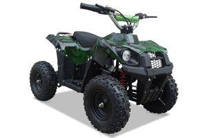 Kinderquad 800 Watt 36 Volt - 3 Stufendrossel - LED - Wechselakku - Rider - CAMOUFLAGE 001