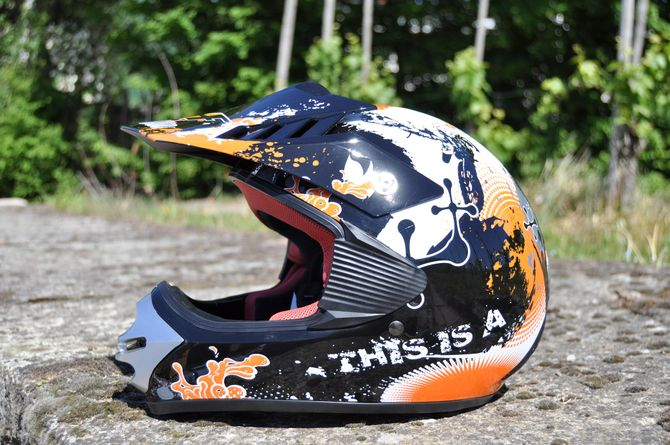 Kinder Motorrad Helm - Cross für Kinder Quad Dirtbike - KXD - Orange