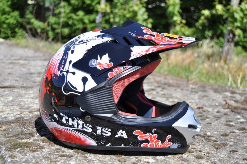 Kinder Motorrad Helm - Cross für Kinder Quad Dirtbike - KXD - Rot – Bild 1