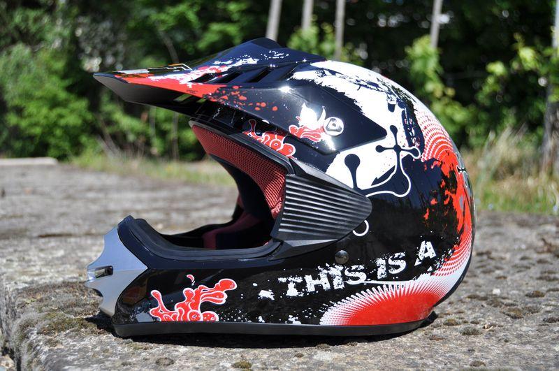 Kinder Motorrad Helm - Cross für Kinder Quad Dirtbike - KXD - Rot – Bild 2