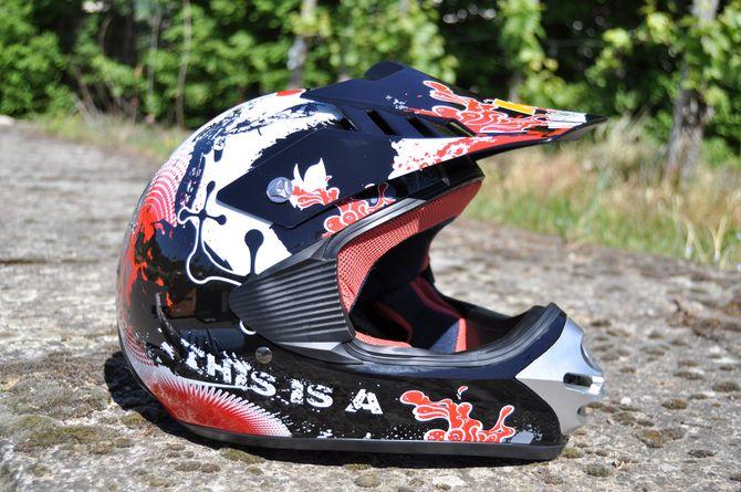 Kinder Motorrad Helm - Cross für Kinder Quad Dirtbike - KXD - Rot