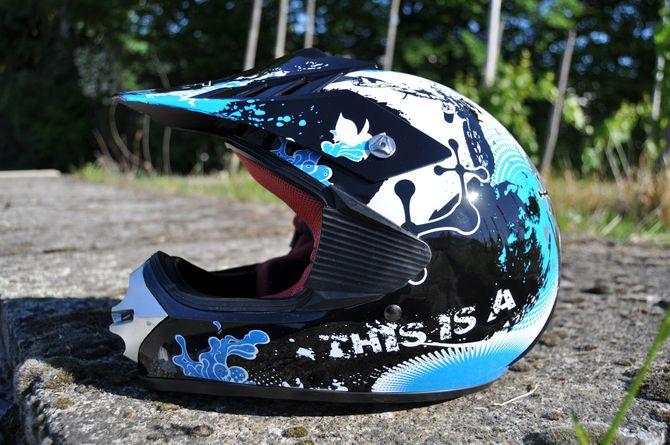 Kinder Motorrad Helm - Cross für Kinder Quad Dirtbike - KXD - Blau