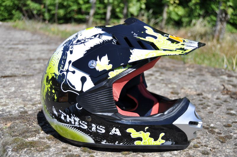Kinder Motorrad Helm - Cross für Kinder Quad Dirtbike - KXD - Grün – Bild 1