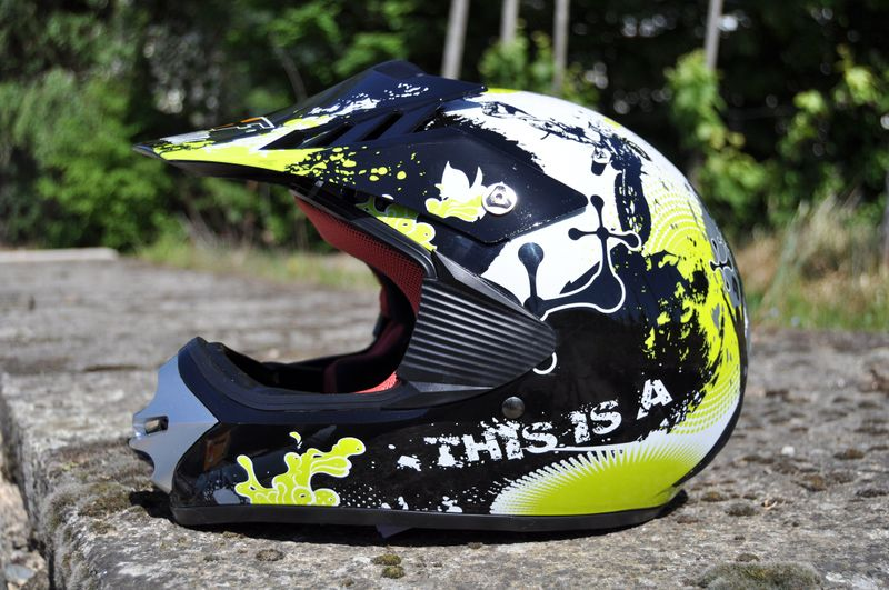 Kinder Motorrad Helm - Cross für Kinder Quad Dirtbike - KXD - Grün – Bild 2