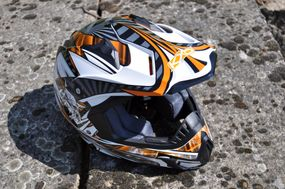 Kinder Motorrad Helm - Cross für Kinder Quad Dirtbike - KXD PRO - Orange