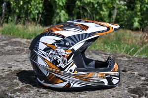 Kinder Motorrad Helm - Cross für Kinder Quad Dirtbike - KXD PRO - Orange 001