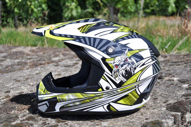 Kinder Motorrad Helm - Cross für Kinder Quad Dirtbike - KXD PRO - GRÜN – Bild 2