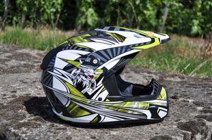 Kinder Motorrad Helm - Cross für Kinder Quad Dirtbike - KXD PRO - GRÜN