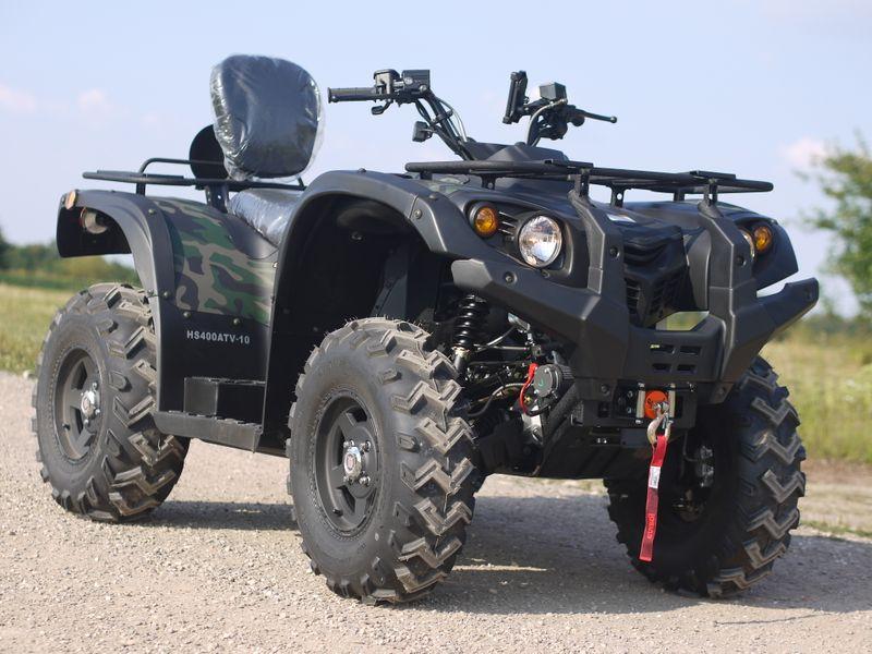 Automatik Quad Atv - 4WD Allrad + AHK + Seilwinde - HISUN 400 - 10 - CAMOUFLAGE  – Bild 1