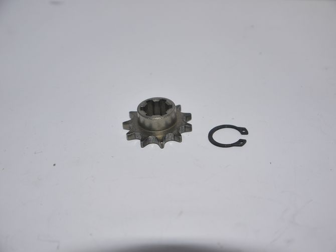 Ritzel vorne 11 Zähne + Sprengring für Getriebe Kinderquad 50ccm - 2 Takt
