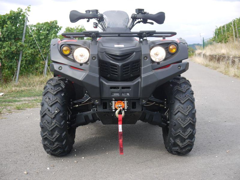Automatik Quad Atv - 4WD Allrad + AHK + Seilwinde - HISUN 400 - 10 - ROT  – Bild 8