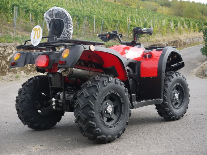 Automatik Quad Atv - 4WD Allrad + AHK + Seilwinde - HISUN 400 - 10 - ROT