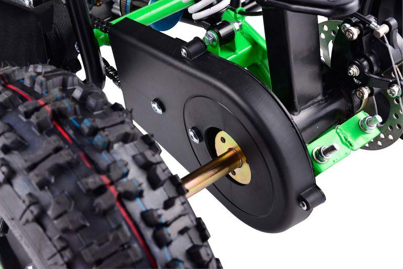 Testsieger Pocketquad 50ccm - Durchgehender Kettenschutz
