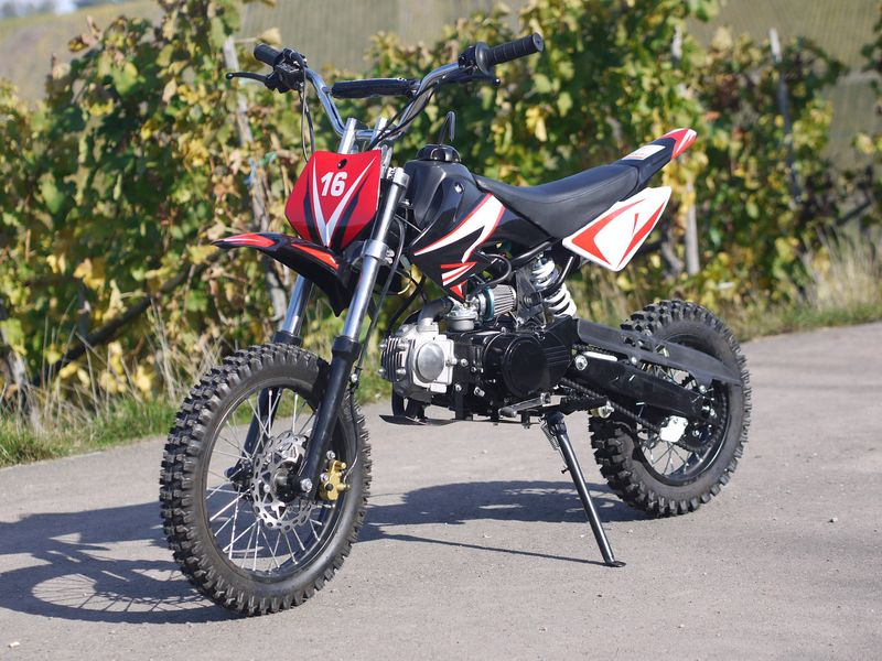 kinder cross bike dirtbike 125ccm 4 takt 14 12 zoll. Black Bedroom Furniture Sets. Home Design Ideas