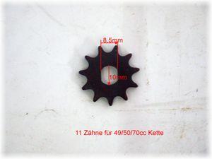 Ritzel, Kettenrad vorne für den GoKart mit 70cc