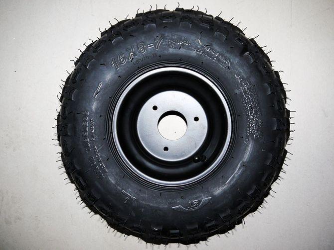 16x8-7  7 Zoll V Profil Elektro komplett Rad  inkl. Felge und Reifen