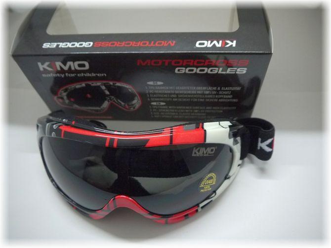Kinder Brille / Cross Brille für Kinderquad & Motorrad Cross Helme - Farbe rot- schwarz