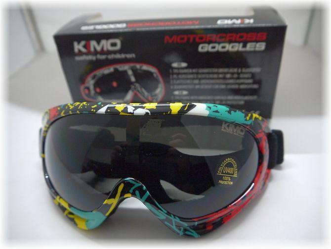 Kinder Brille / Cross Brille für Kinderquad & Motorrad Cross Helme - Farbe gelb - grün - rot