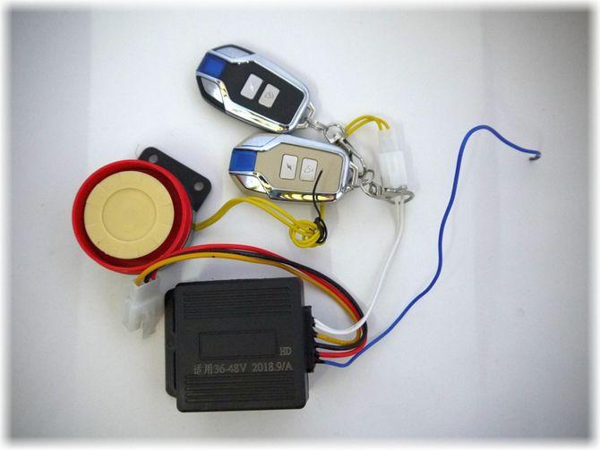 Fernbedienungseinheit mit Fernbedienung u. Alarmanlage für 48 Volt Elektro