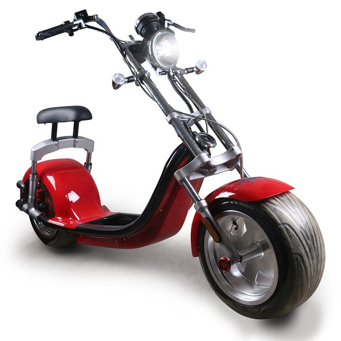 E-Scooter Big Wheeler Chopper Roller mit 2000 Watt - 60Volt Lithium Akkupack und EEC