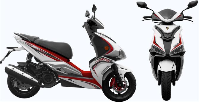 Motorroller 50ccm - 45 km/h - 4 Takt - ZNEN Fantasy EURO 4 Sport Edition - Weiss