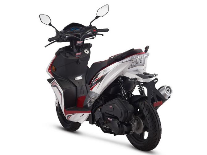 Motorroller 50ccm - 25 km/h Mofa Version - 4 Takt - ZNEN Fantasy EURO 4 Sport Edition - Weiss