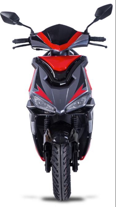 Motorroller 50ccm - 25 km/h Mofa Version - 4 Takt - ZNEN Fantasy EURO 4 Sport Edition - GRÜN