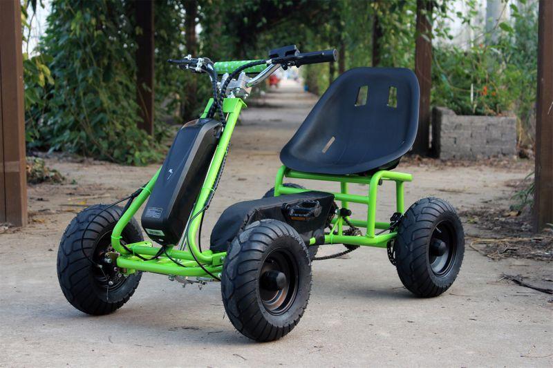 Elektrisches Pedal Gokart - Elektro Kart Grün