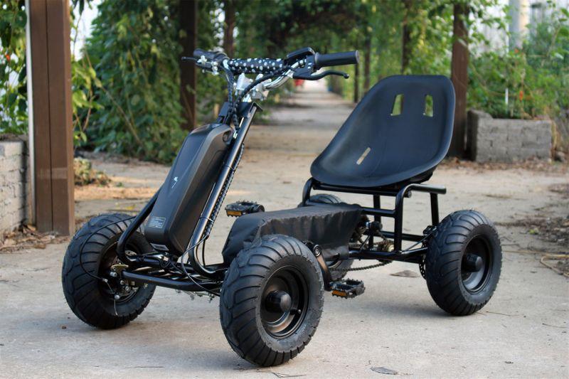 Elektrisches Pedal Gokart - Elektro Kart Schwarz