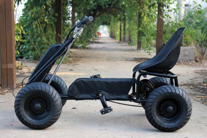 Elektrisches Pedal Gokart - E-Kart - mit Trittkraftunterstützung / Pedelec Antrieb  250W - 36V -
