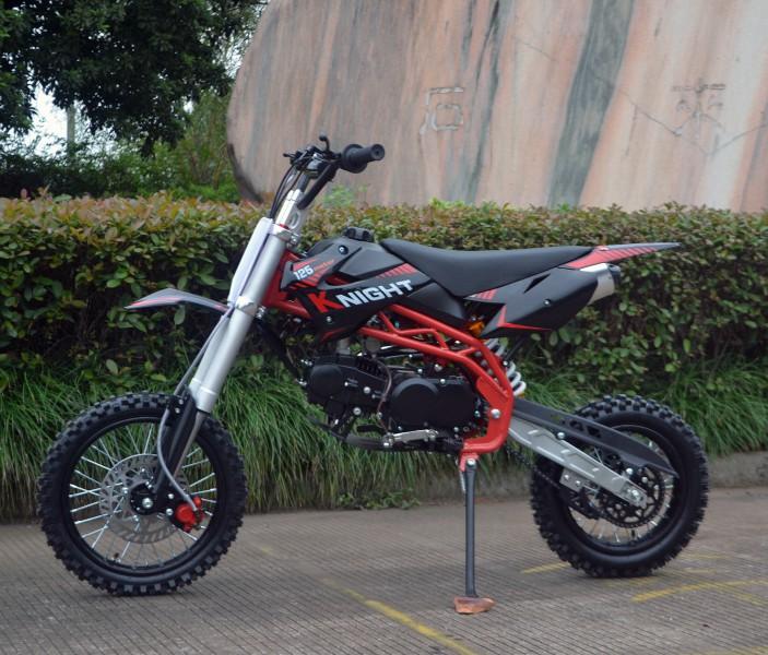 Dirtbike Cross Bike 125ccm + 14/12 Reifen + Upside Down Gabel - SCHWARZ – Bild 5