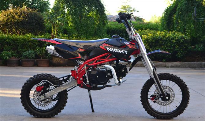 Dirtbike Cross Bike 125ccm + 14/12 Reifen + Upside Down Gabel - SCHWARZ