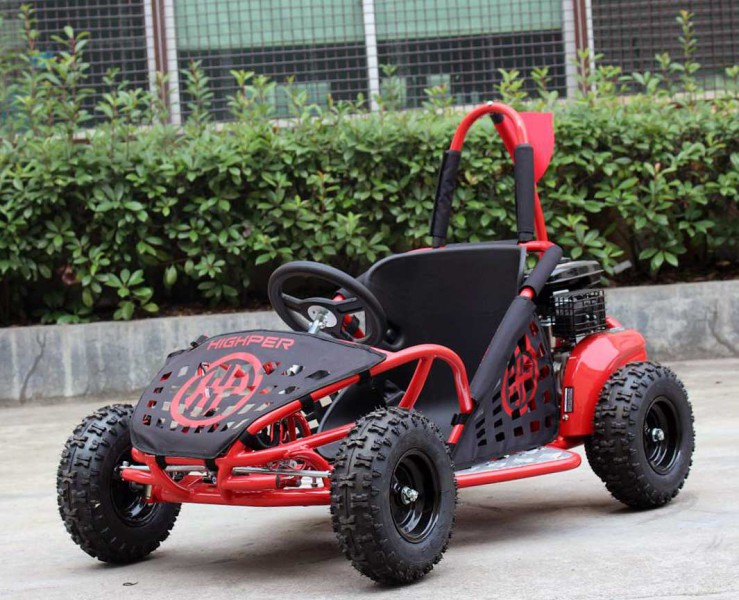 kinderbuggy go kart f r kinder mit 80ccm 4 takt motor rot quad atv kinder quads. Black Bedroom Furniture Sets. Home Design Ideas