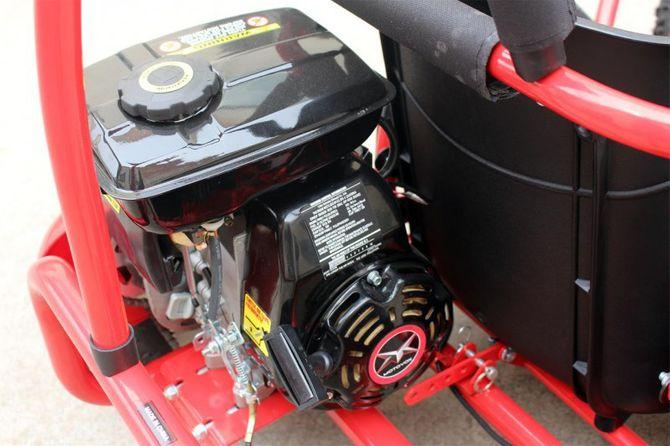 Kinderbuggy Go-Kart für Kinder mit 80ccm 4 Takt-Motor - ROT