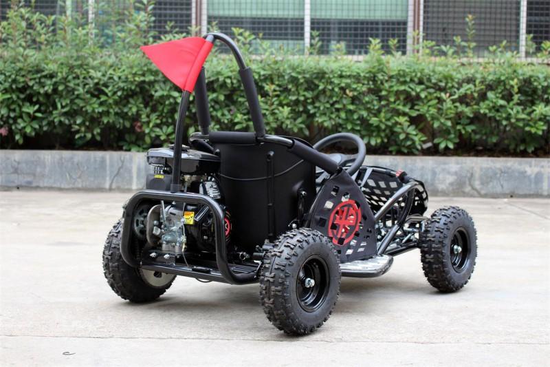 Kinderbuggy Go-Kart für Kinder mit 80ccm 4 Takt-Motor - schwarz – Bild 8