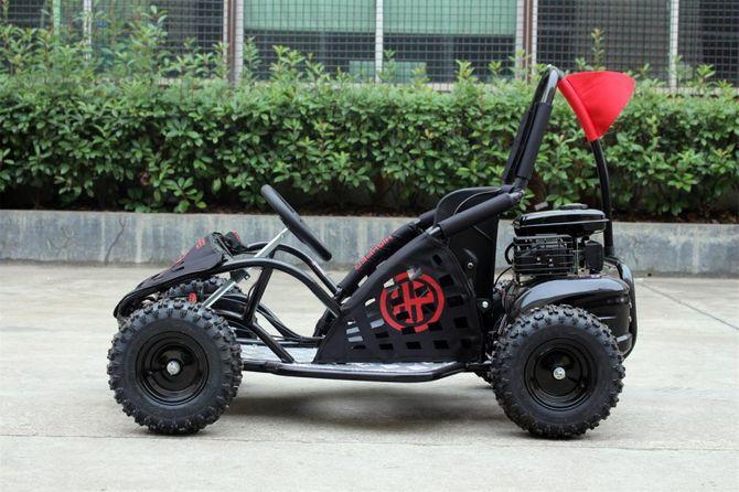 Kinderbuggy Go-Kart für Kinder mit 80ccm 4 Takt-Motor - schwarz