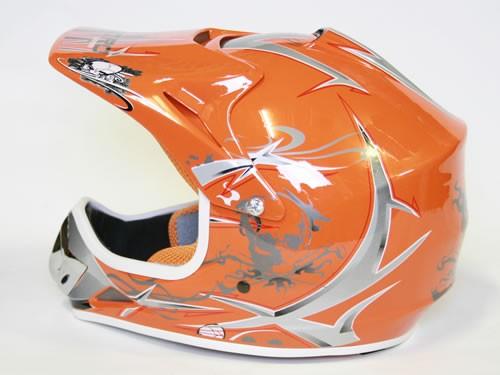 Kinder Helm Cross - Helm für Kinderquad Pocketbike - Orange – Bild 10