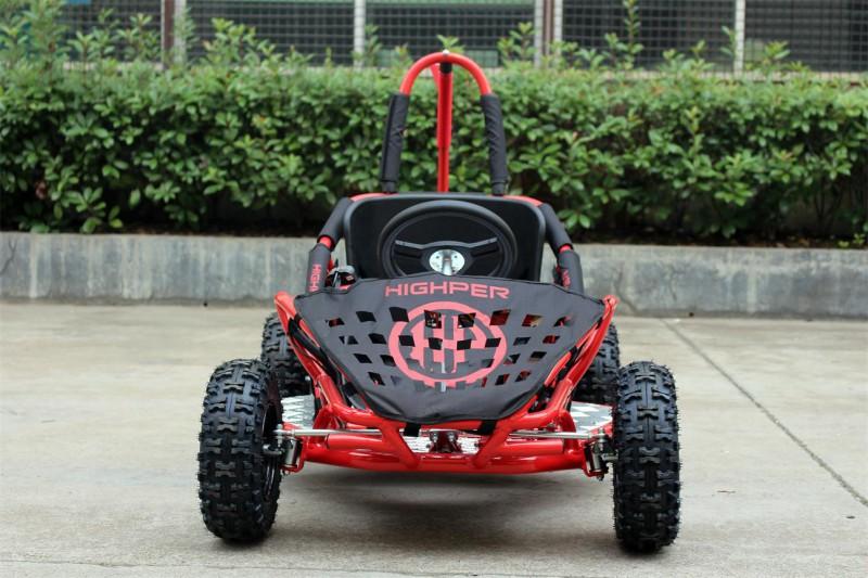 Buggy - Gokart elektrisch mit 1000 Watt - 48 Volt - drosselbar - rot – Bild 5