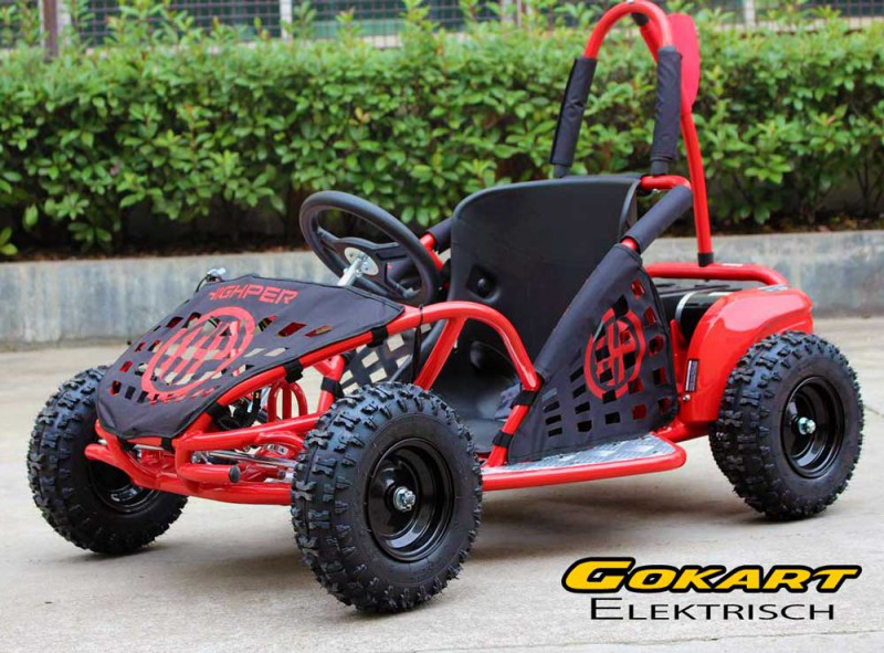 buggy gokart elektrisch mit 1000 watt 48 volt drosselbar rot strandbuggy s utv. Black Bedroom Furniture Sets. Home Design Ideas