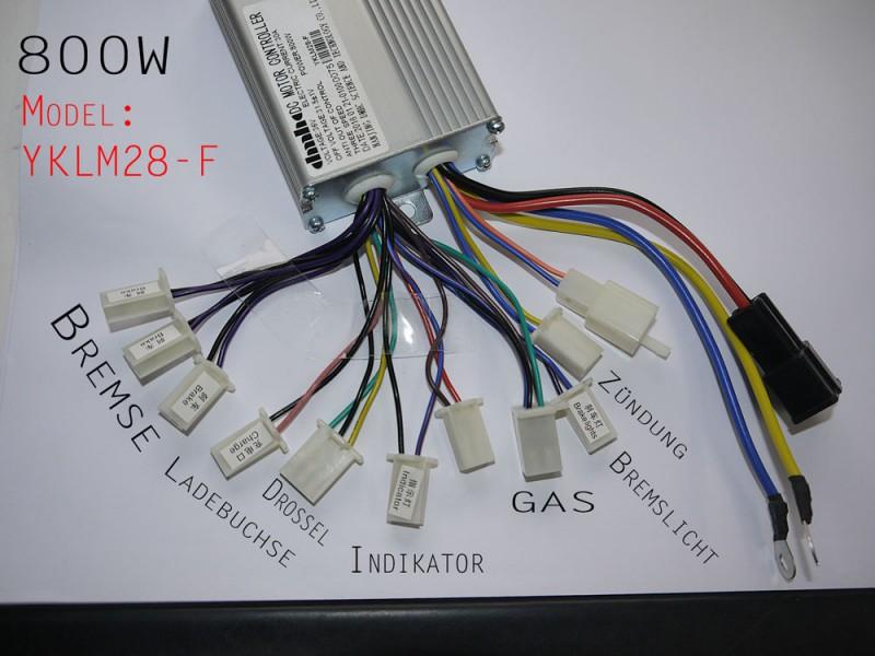 Steuereinheit 800 Watt 36 Volt für elektrisches Kinderquad - Hersteller DMHC Modell YKLM28-F – Bild 1