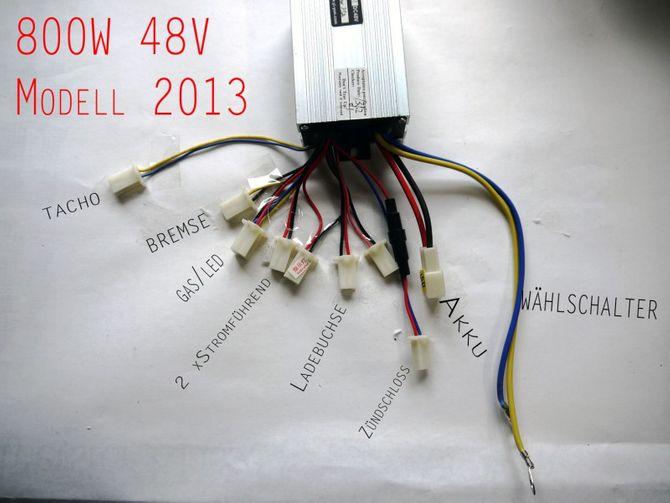 Steuereinheit 800 Watt 48 Volt 30A für elektrisches Kinderquad ab 2012