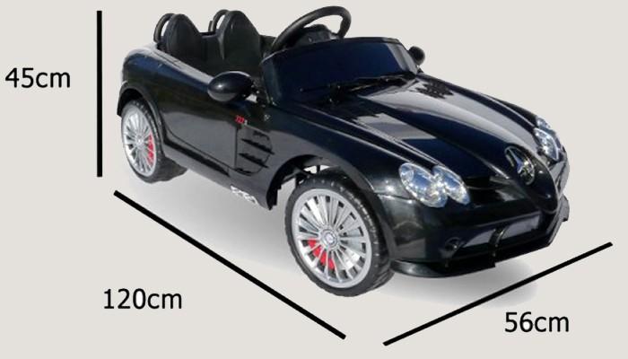 Kinderauto elektrisch - Mercedes SLR mit Fernbedienung und Sound – Bild 22